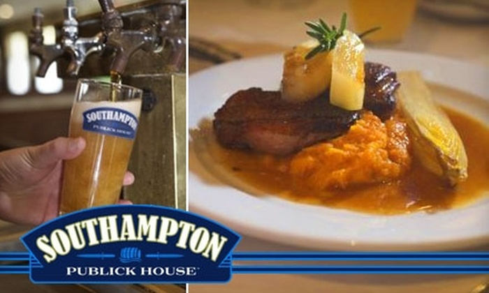 Southampton Publick House - Southampton: $15 for $35 Worth of Pub Grub and Drinks at Southampton Publick House in Southampton