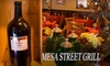 Mesa Street Bar & Grill - El Paso: $12 for a Bottle of Wine and Cheese, Fruit, and Cracker Platter at Mesa Street Bar & Grill ($30 Value)