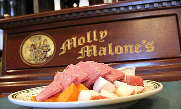 Molly Malone's - River Forest: Pizza or Irish and American Fare for Two or Four at Molly Malone's in Forest Park (Up to 55% Off)