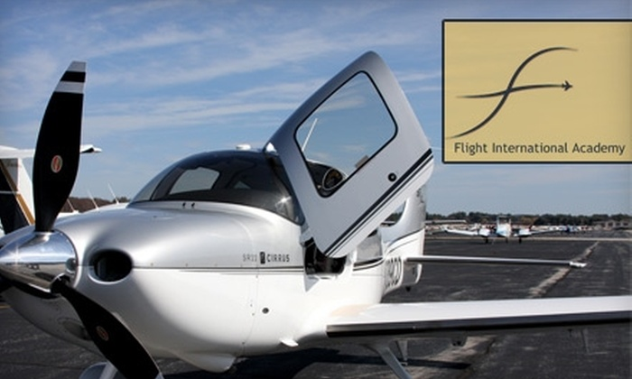 Flight International Academy - Northwest Nashua: $99 for a One-Hour Flying Lesson with Flight International Academy in Nashua, NH ($199 Value)