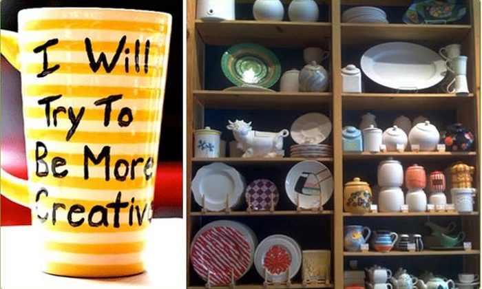 Color Me Mine Southlands - Aurora: $50 Worth of Personalized Pottery Pieces for $25 at Color Me Mine