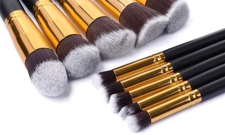 1, 2  ou 3 sets de 10 pinceaux de maquillage yeux et teint
