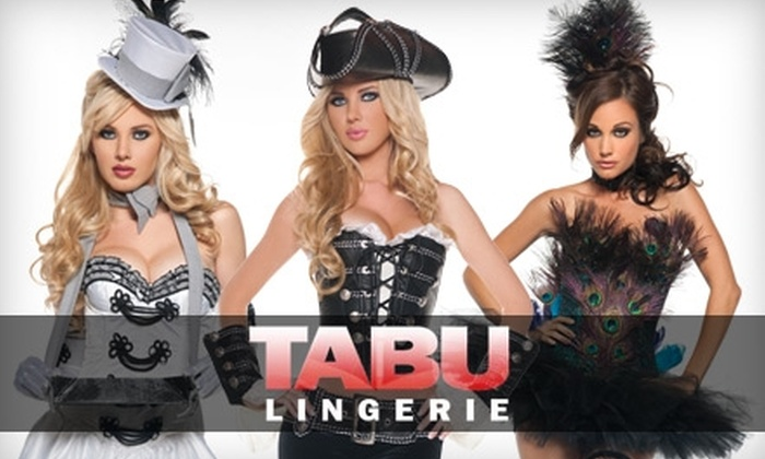 Tabu Lingerie - Multiple Locations: $12 for $25 Worth of Halloween Costumes, Lingerie, and Bedroom Accessories at Tabu Lingerie