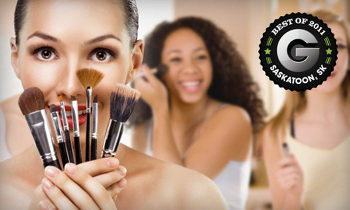 SunSera Salons - Multiple Locations: Makeup-Lesson Party for 1, 5, or 10 People with Manicure and Gifts at SunSera Salons (Up to 66% Off)