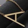 18K Gold Plated Sideways Initial Charm Necklace by Diane Lo'ren