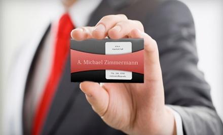 250 Custom-Designed Business Cards (a $50 value) - Goldmine in Bogart