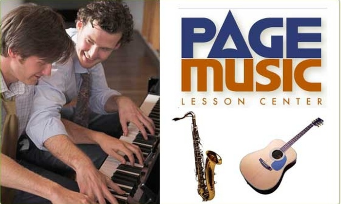 Page Music - Back Bay: Half-Off Private Music Lesson at Page Music
