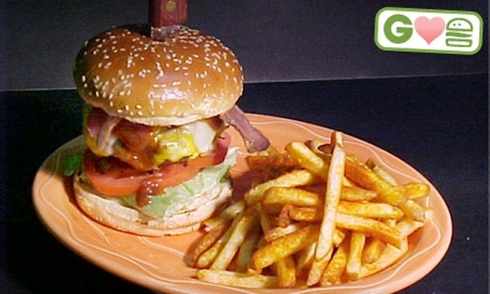 Hamburger Mary's  - Downtown Palm Springs: $12 for $25 Worth of Burgers, Drinks, and Comfort Food at Hamburger Mary's