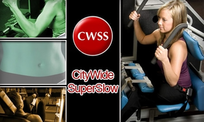 Citywide Superslow - DePaul: $20 High-Intensity Personal-Training Session at CityWide SuperSlow ($57 Value)