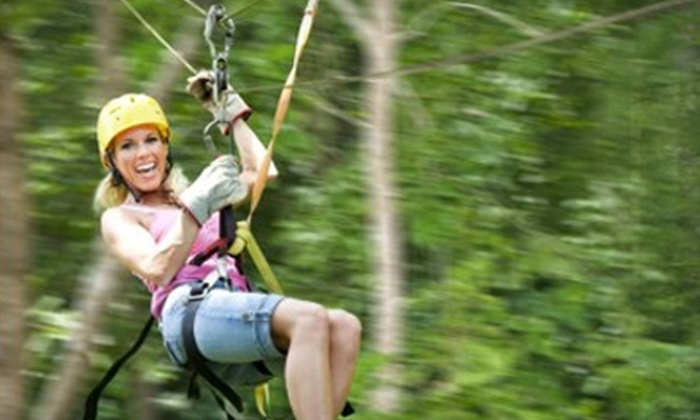 Kersey Valley Zipline Aerial Tours - High Point: $59 for First Class Tour from Kersey Valley Zipline Aerial Tours in High Point ($118 Value)