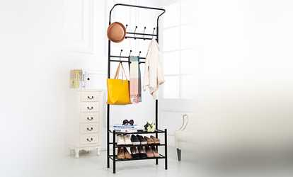 Image Placeholder Image For Vivo Coat Stand With Shoe Rack