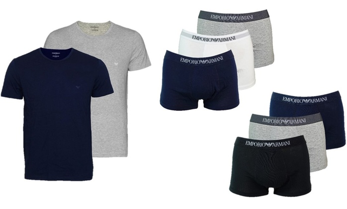 Armani Two-Pack T-Shirts or Three-Pack Boxers for £29.99 With Free Delivery
