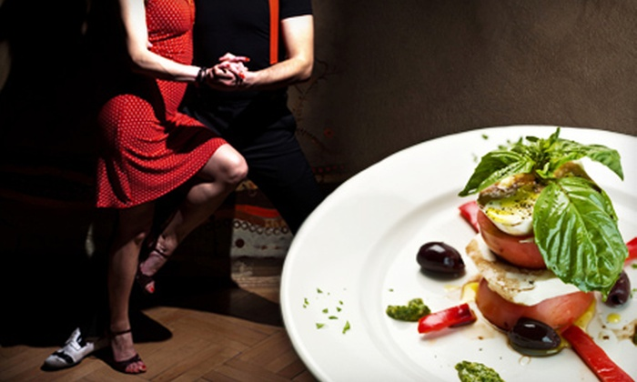 Sway Dance and Brisku's Bistro & Bar - Multiple Locations: $63 for 45-Minute Tango Lesson at Sway Dance and Dinner for Two at Brisku's Bistro & Bar (Up to $124 Value)