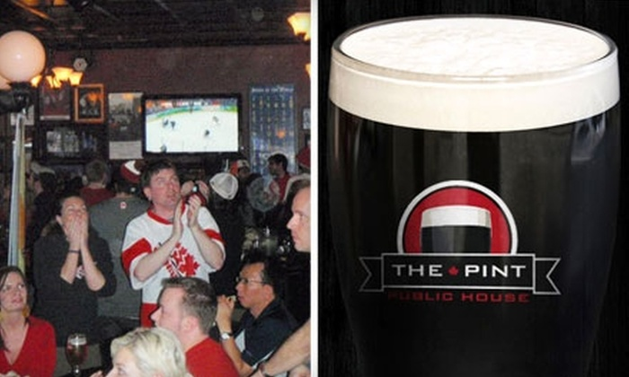 The Pint - Downtown: $20 for $40 Worth of Pub Fare and Drinks at The Pint