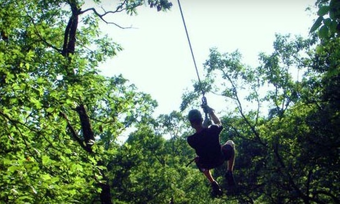 Eco Zipline Tours - St Louis: $44 for The Easy Rider Zip-Line Tour for Two from Eco Zipline Tours in New Florence ($86.38 Value)