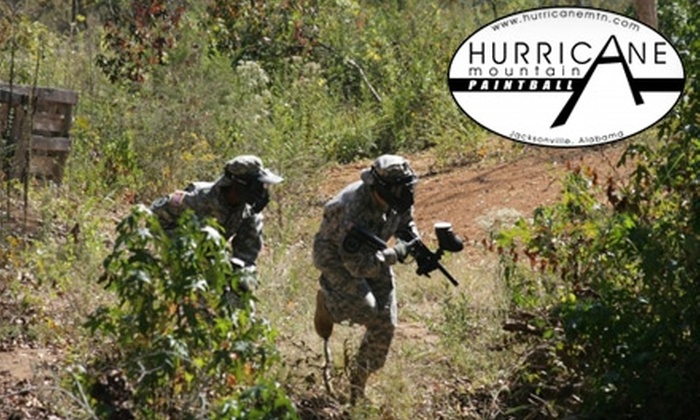 Hurricane Mountain Paintball - Piedmont: $20 for a Paintball Play Package at Hurricane Mountain Paintball