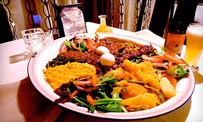 Red Sea Restaurant & Bar - Shafter: $29 for an Ethiopian Dinner for Two at Red Sea Restaurant & Bar in Oakland (Up to $60.28 Value)