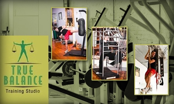 True Balance Studio - Mid-Town Belvedere: $25 for One Month of Fitness Classes and Circuit Training Plus One Personal Training Session at True Balance Training Studio