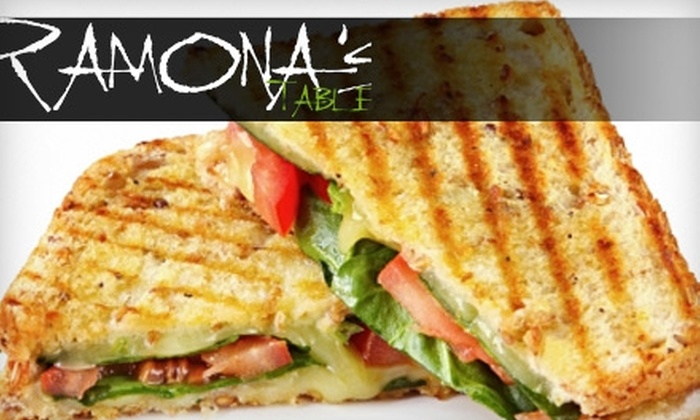 Ramona's Table - East Grand Rapids: $7 for $14 Worth of Fresh, Local Fare at Ramona's Table