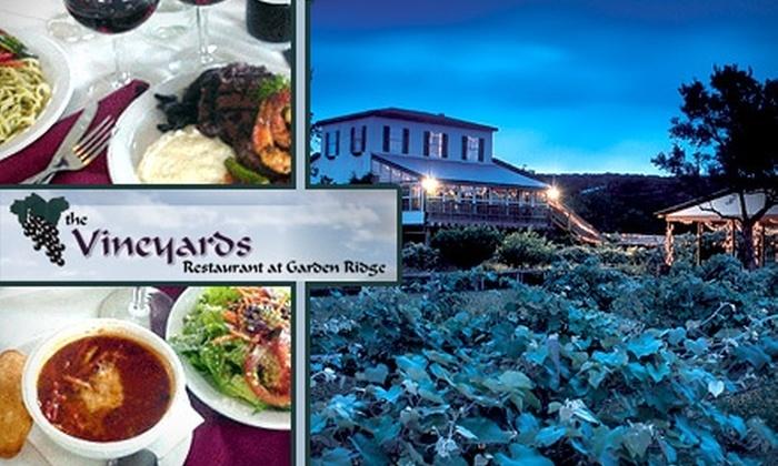 The Vineyards Restaurant - New Braunfels: $15 for $30 Worth of Fine Fare at The Vineyards Restaurant