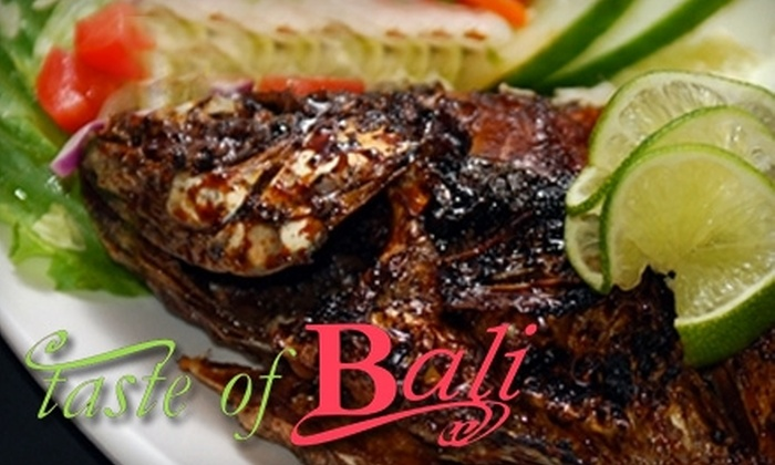 Taste of Bali - Misty Meadows: $10 for $20 Worth of Indonesian Fare at Taste of Bali