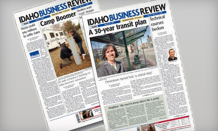 """Idaho Business Review: $39 for a One-Year Online and Print Subscription to """"Idaho Business Review"""" ($113 Value)"""