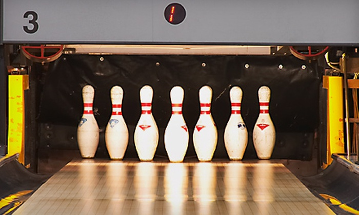 Playdium Bowling Center - Albany / Capital Region: Bowling Night with Shoe Rentals, Soda, and Pizza for Two, Four, or Six People at Playdium Bowling Center