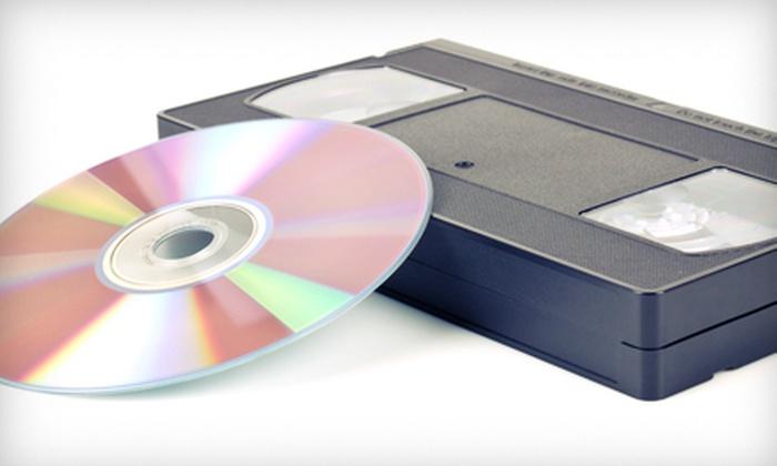 Denevi Digital Imaging - Cherryland: Three or Six VHS-to-DVD Transfers and Arcsoft Editing Software at Denevi Digital Imaging in Hayward (Up to 67% Off)