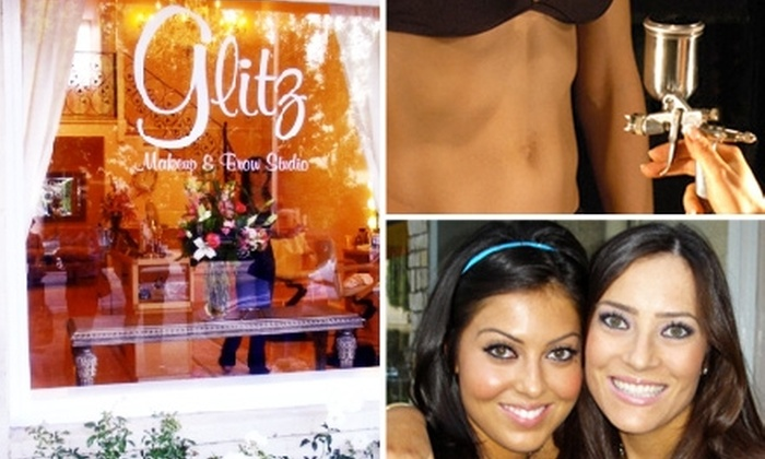 Glitz Makeup and Brow Studio  - Beverly Hills: $30 for Custom Airbrush Tanning at Glitz ($60 Value)
