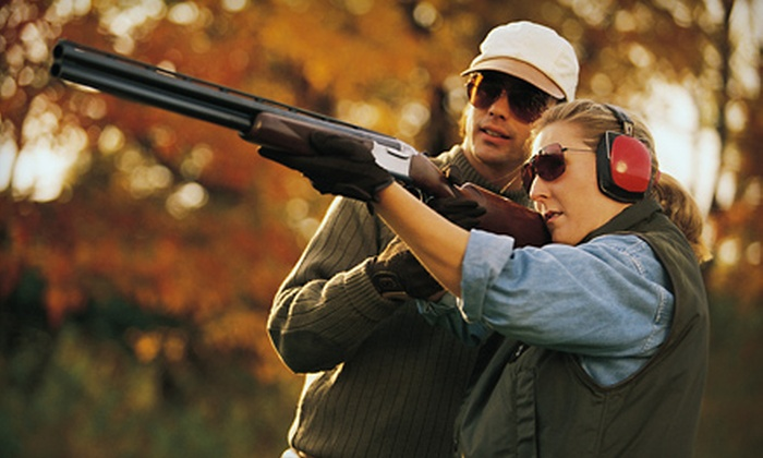 Golden Gun Club - Watkins: Sporting Clays Shooting Package for Two or Four on a Weekday or Weekend at the Golden Gun Club in Watkins (Up to 60% Off)