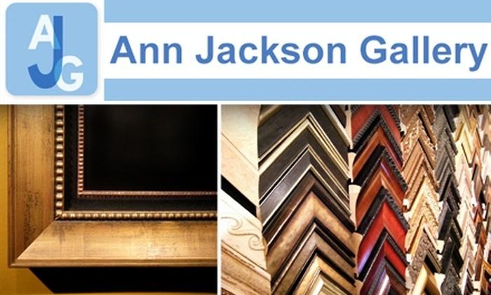 Ann Jackson Gallery  - Roswell: $30 for $100 Worth of Custom Framing at Ann Jackson Gallery