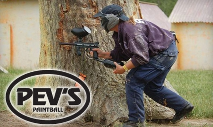 Pev's Paintball - Blue Ridge: $59 for an All-Day Pass, Rentals, and Paint for Three People at Pev's Paintball in Aldie ($177 Value)