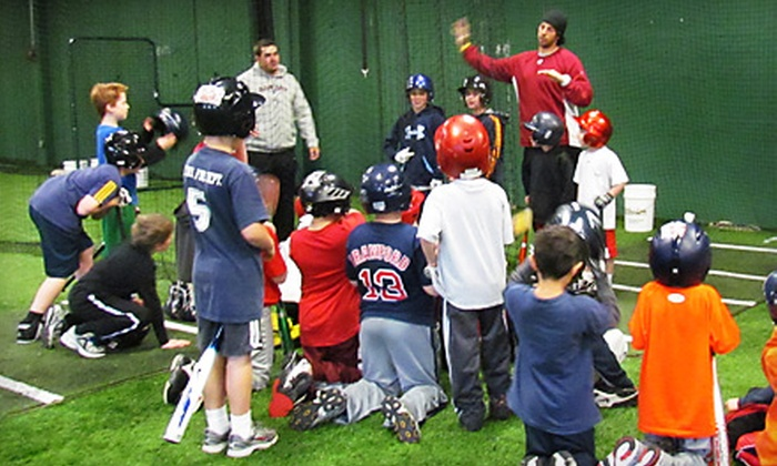 Milford Sports Center - Milford: Baseball Academy with Rich Gedman, Batting Cages, or Zumba at Milford Sports Center. Five Options Available.