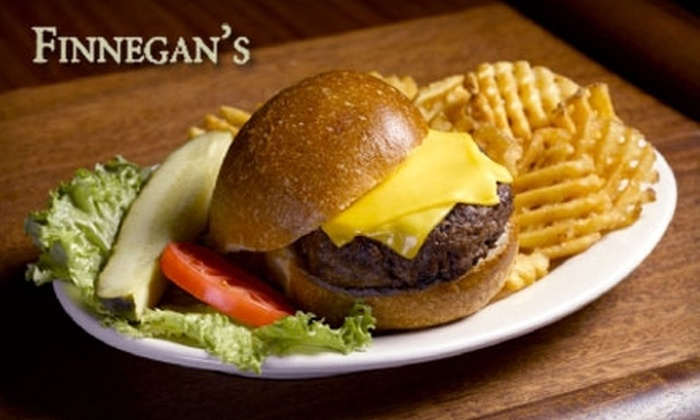Finnegan's Restaurant and Tap Room - Huntington: $15 for $30 Worth of Pub Fare and Drinks at Finnegan's Restaurant and Tap Room