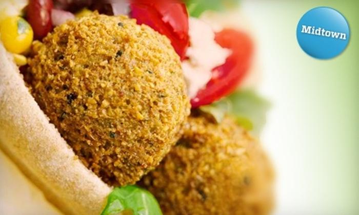 Crisp - Midtown Center: $5 for $10 Worth of Vegetarian Mediterranean Fare at Crisp