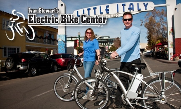 Ivan Stewart's Electric Bike Center - Little Italy: $20 for Two Hours of Electric Bike Rental at Ivan Stewart's Electric Bike Center ($50 Value)