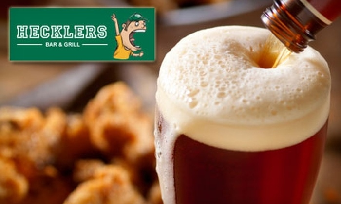 Hecklers Bar & Grill - Burnside: $10 For $20 Worth of Pub Fare and Drinks at Hecklers Bar & Grill