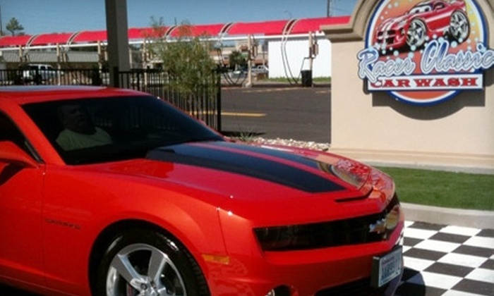 Racer Car Wash - Multiple Locations: $7 for an Exterior Wash ($14 Value) or $11 for a Racer Plus Car Wash ($22 Value) at Racer Car Wash