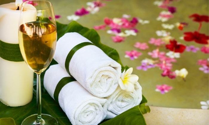 Kim's Day Spa - Buckhead Village: Spa Day with Mani-Pedi, Massage or Facial, and Wine or Chocolate for One or Two at Kim's Day Spa (Up to 60% Off)