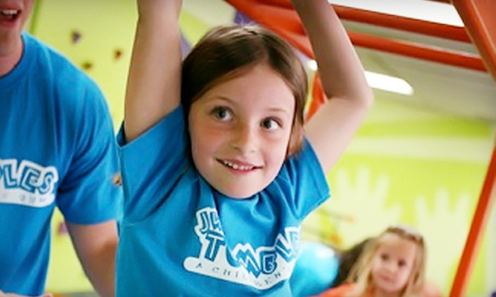 JW Tumbles - Multiple Locations: $35 for a Kids' Fitness Package with Lifetime Family Membership to JW Tumbles ($175 Value). Two Locations Available.