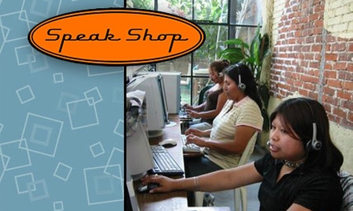 Speak Shop - Portland: $30 for Five Spanish Lessons and a One-Month Membership to Speak Shop ($60 Value)
