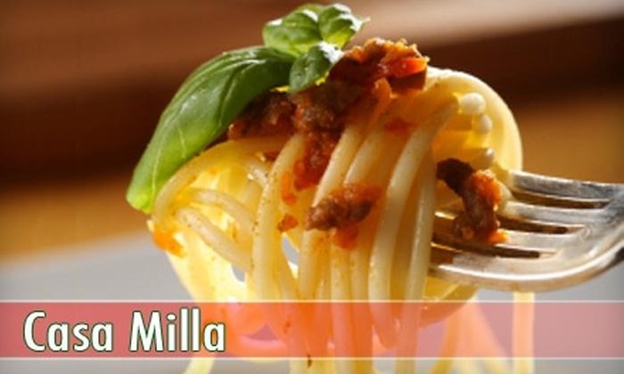 Casa Milla Ristorante - Elm Park: $20 for $40 Worth of Italian Cuisine and Drinks at Casa Milla Ristorante in Elm Park