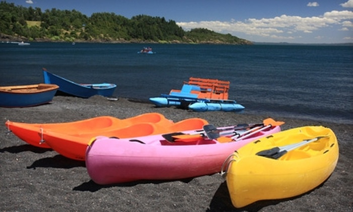 Gyro Beach Watersports - Kelowna: 60-Minute Kayak Rental or Two-Hour Water-Park Admission to Gyro Beach Watersports