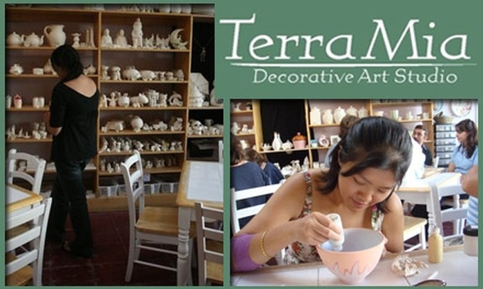 Terra Mia - Noe Valley: $22 for $45 Worth of Ceramics Painting and Sitting Fee at Terra Mia Decorative Art Studio
