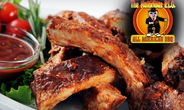 The Notorious P.I.G - Multiple Locations: $10 for $20 Worth of Scrumptious Barbecue and Other Home-Style Fare at The Notorious P.I.G.