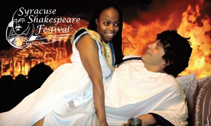 """Syracuse Shakespeare Festival - Geddes: $10 for Two Tickets to """"Antony and Cleopatra"""" Presented by Syracuse Shakespeare Festival ($20 Value). Choose from Eight Dates."""
