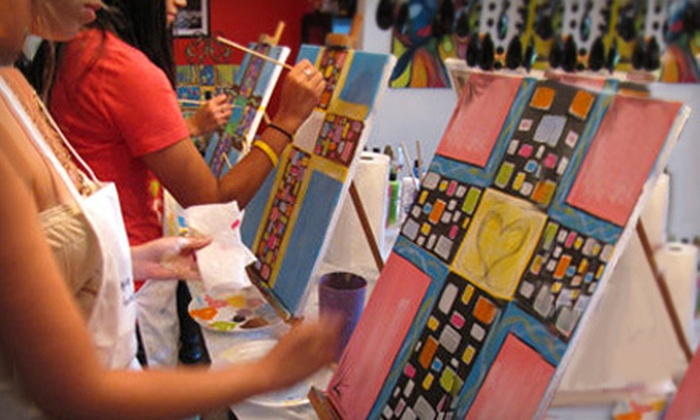 Paint Like Picasso - Plymouth Park North: $199 for an At-Home Art Party for 10 from Paint Like Picasso ($500 Value)