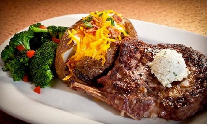 Wild Bill's Legendary Steakhouse & Saloon - I-435 West Kc-ks: $10 for $20 Worth of Fare at Wild Bill's Legendary Steakhouse & Saloon