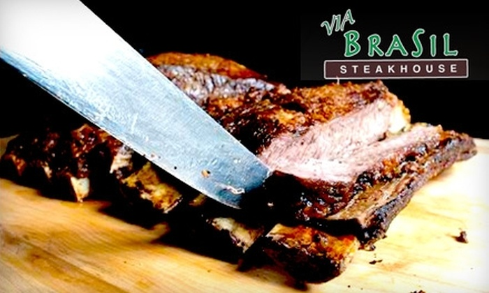 Via Brasil Steakhouse - Peccole Ranch: $21 For One Rodizio Dinner at Via Brasil Steakhouse