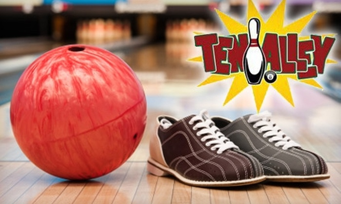 Ten Pin Alley - Hartford: $5 for Two Games of Bowling, One Shoe Rental, and Choice of an Ice Cream or Drink at Ten Pin Alley ($10.40 Value)